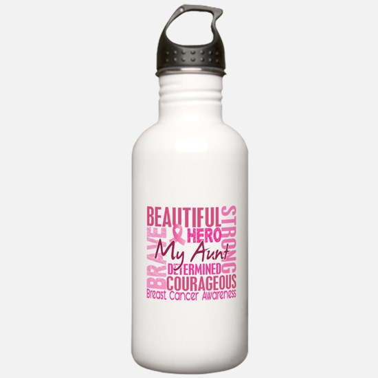 Tribute Square Breast Cancer Water Bottle