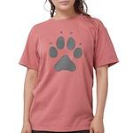 Wolf Paw Print Womens Comfort Colors Shirt