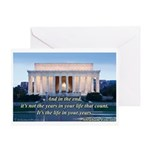 'The life in your years' Greeting Card
