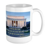 'The life in your years' Large Mug