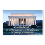 'The life in your years' Sticker (Rectangle 10 pk)