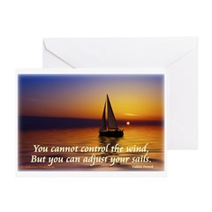 'Adjust Your Sails' Greeting Card