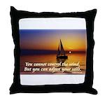 'Adjust Your Sails' Throw Pillow