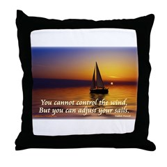 'Adjust Your Sails' Throw Pillow