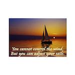 'Adjust Your Sails' Rectangle Magnet (10 pack)