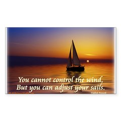 'Adjust Your Sails' Sticker (Rectangle 10 pk)