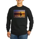 'Adjust Your Sails' Long Sleeve Dark T-Shirt