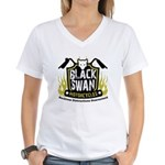 Black Swan Motorcycles Women's V-Neck T-Shirt