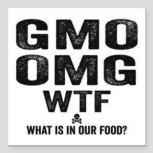"GMO OMG Square Car Magnet 3"" x 3"""