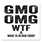 GMO OMG Square Car Magnet 3