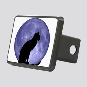 Black Cat, Blue Moon Rectangular Hitch Cover