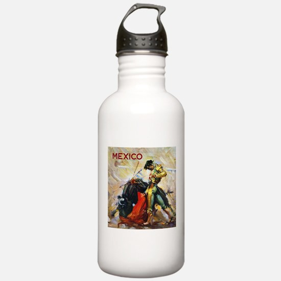 Vintage Bullfighting Water Bottle