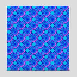 Blue Bubble Pink 4Jules Tile Coaster