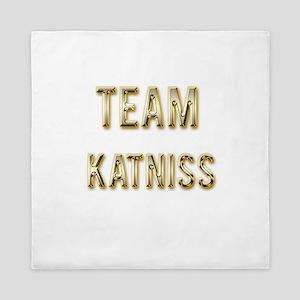 Team Katniss (Gold) Queen Duvet