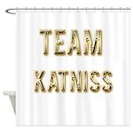 Team Katniss (Gold) Shower Curtain
