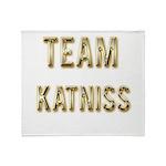 Team Katniss (Gold) Throw Blanket