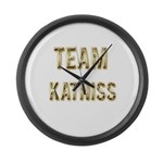 Team Katniss (Gold) Large Wall Clock