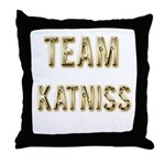 Team Katniss (Gold) Throw Pillow