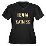 Team Katniss (Gold) Women's Plus Size V-Neck Dark