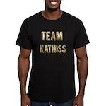 Team Katniss (Gold) Men's Fitted T-Shirt (dark)