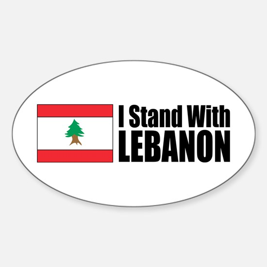 Stand With Lebanon Oval Decal