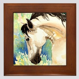 Spring Horse Framed Tile