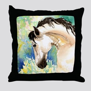 Spring Horse Throw Pillow