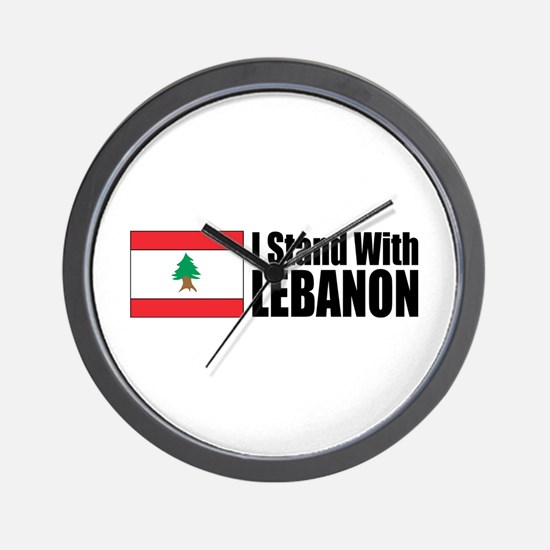 Stand With Lebanon Wall Clock