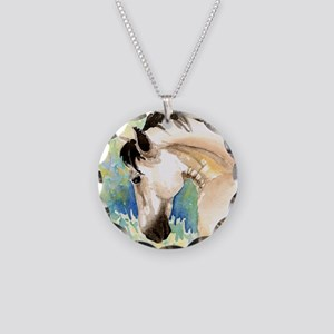 Spring Horse Necklace Circle Charm