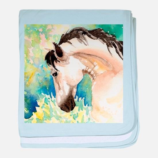 Spring Horse baby blanket
