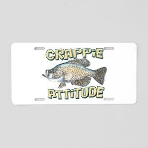 Crappie Attitude Aluminum License Plate