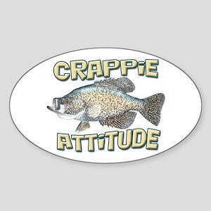 Crappie Attitude Sticker (Oval)
