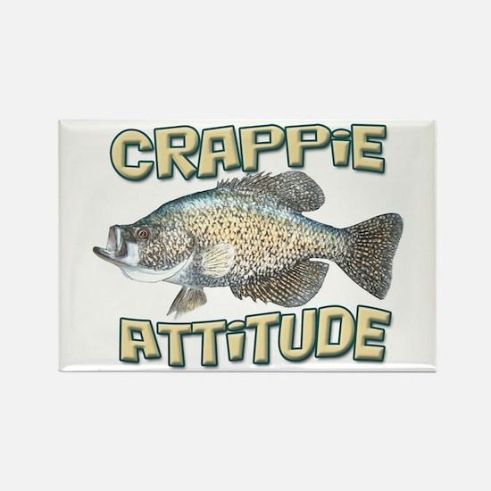 Crappie Attitude Rectangle Magnet
