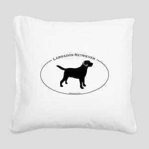 Labrador Oval Text Square Canvas Pillow