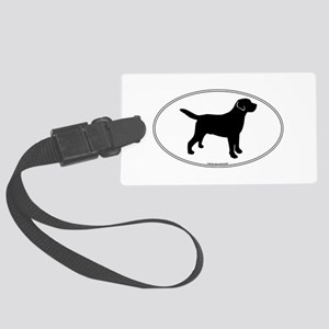 All Lab Outline Large Luggage Tag