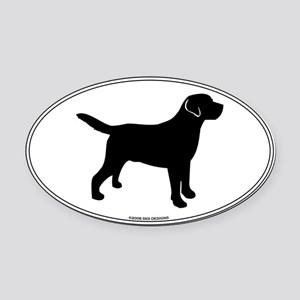 All Lab Outline Oval Car Magnet