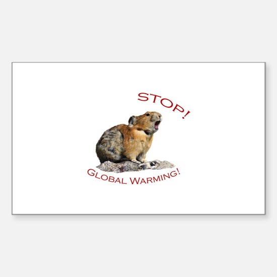 Global Warming Sticker (Rectangle)