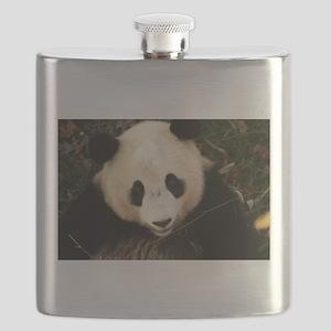 tai shan face - horizontal Flask