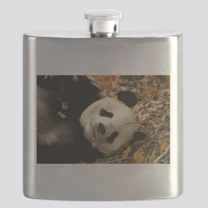 tai shan resting in leaves - horizontal Flask