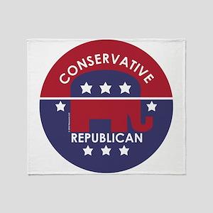 Conservative Republican Throw Blanket