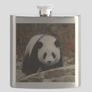 tai shan head on - square Flask