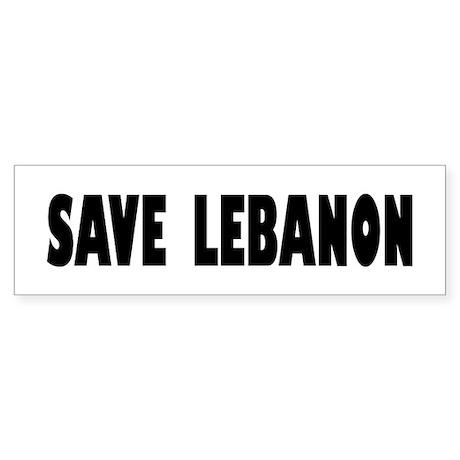 Save Lebanon Bumper Sticker
