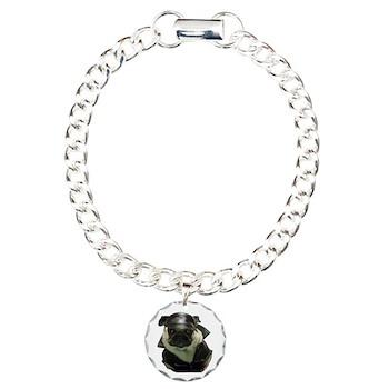 BikerPug Charm Bracelet, One Charm