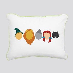 Oz Characters Rectangular Canvas Pillow