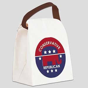 Conservative Republican (XL) Canvas Lunch Bag