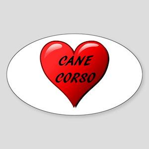 cane corso heart Sticker
