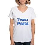 August 23 2012 Team Peeta Women's V-Neck T-Shi