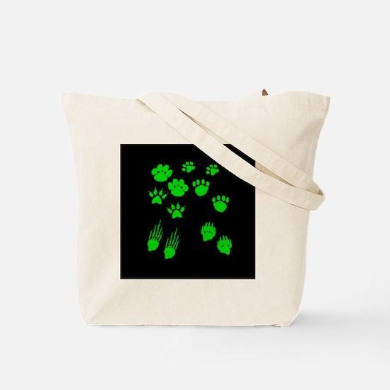 GREEN BEAR PAW VARIETY PACK Tote Bag