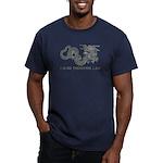 I Climb Zen Dragon Men's Fitted T-Shirt (dark)
