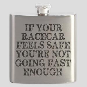 Funny Racing Saying Flask